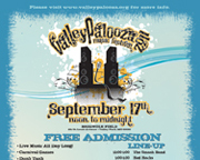 Poster, Flyer and Leaflet Design for ValleyPalooza Music Festival